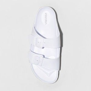 NWT Women's White Slide Sandals